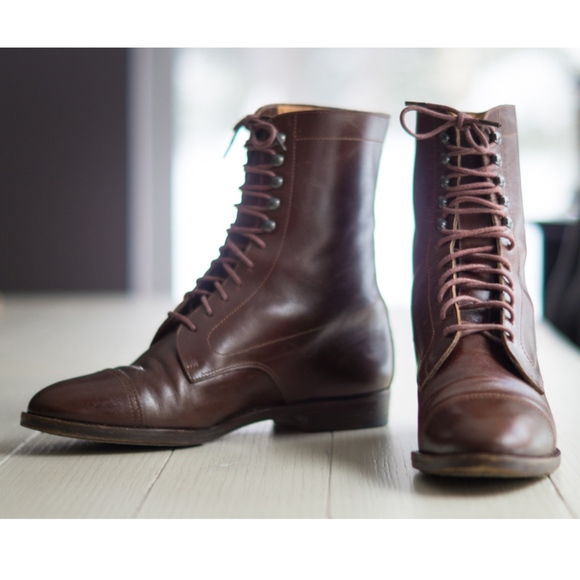 Vintage RALPH LAUREN Italy Lace up Victorian Boots
